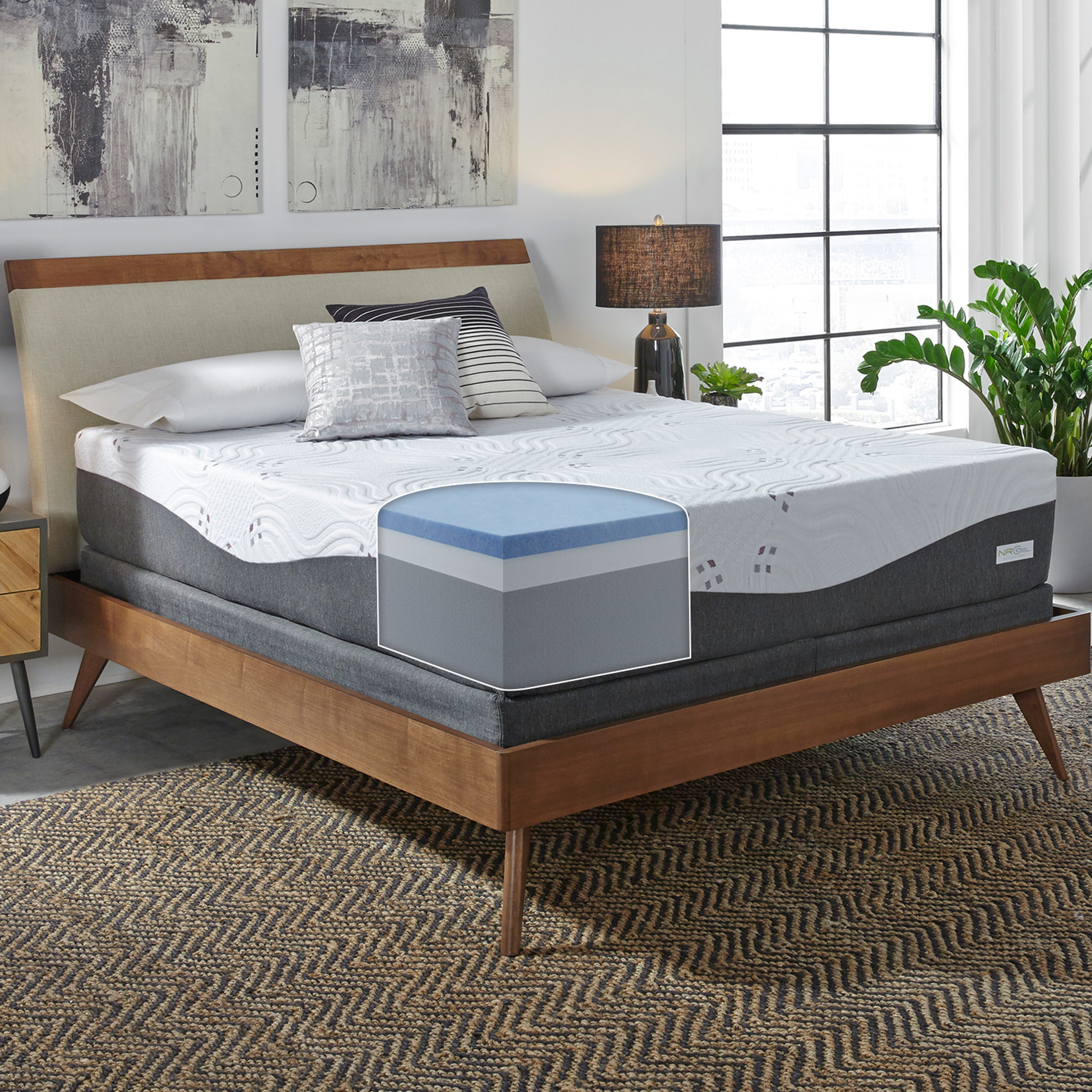 official photos b8d01 f6bc6 ComforPedic Loft from BeautyRest 14-inch NRGel Memory Foam Mattress Set