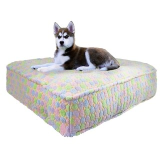 Bessie & Barnie Ice Cream Ultra Plush Faux Fur Luxury Durable Sicilian Rectangle Pet/Dog Bed