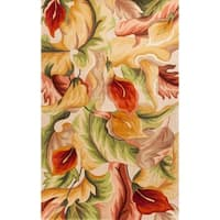 KAS Catalina Ivory Calla Lilies Rug - 7'9 x 10'6
