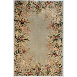 KAS Emerald Sage Tropical Border Rug