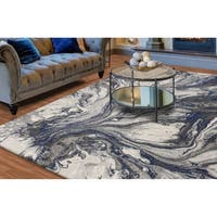 KAS Illusions Grey Watercolors Rug - 9'10 x 13'2