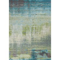 KAS Illusions Blue/Green Escape Rug - 7'10 x 10'10