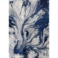 KAS Illusions Blue Watercolors Rug - 9'10 x 13'2