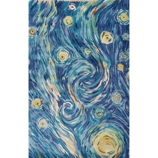 Porch & Den Hand-tufted Wool Twilight Abstract Area Rug