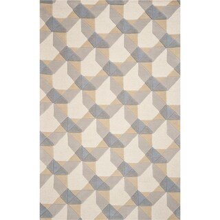 Carson Carrington Hand-woven Wool Mid-century Area Rug