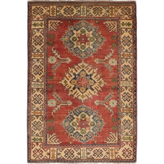 eCarpetGallery  Hand-knotted Finest Gazni Red Wool Rug - 3'3 x 4'10