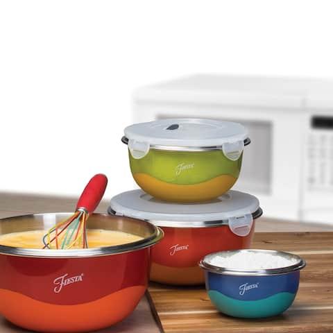 Fiesta 8-Piece Microwave Safe Mixing Bowl Set