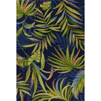 KAS Playa Harbor Ink Blue Handmade Area Rug - 7'6 x 9'6