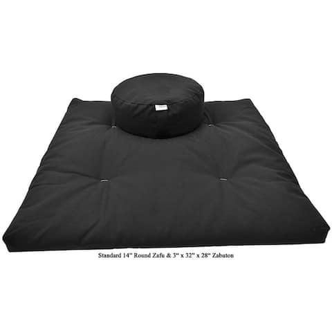 Bean Products Oval or Round Zafu & Zabuton Meditation Cushion Set