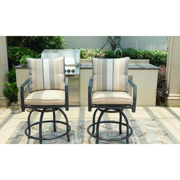 Sensational Shop Patio Festival 3 Piece High Seating Swivel Chair And Machost Co Dining Chair Design Ideas Machostcouk