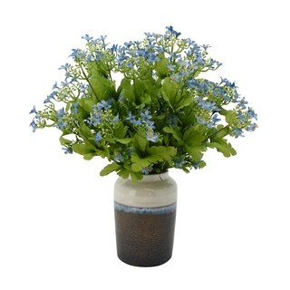 Blue Gypso in Two-tone Vase