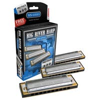 Hohner Big River Harp Pro Harmonica - 3-Pack - Keys C, G and A