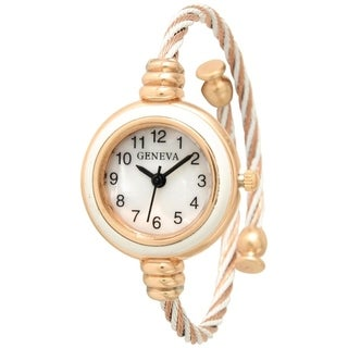 Olivia Pratt Thin Twisted Bangle Watch - One size