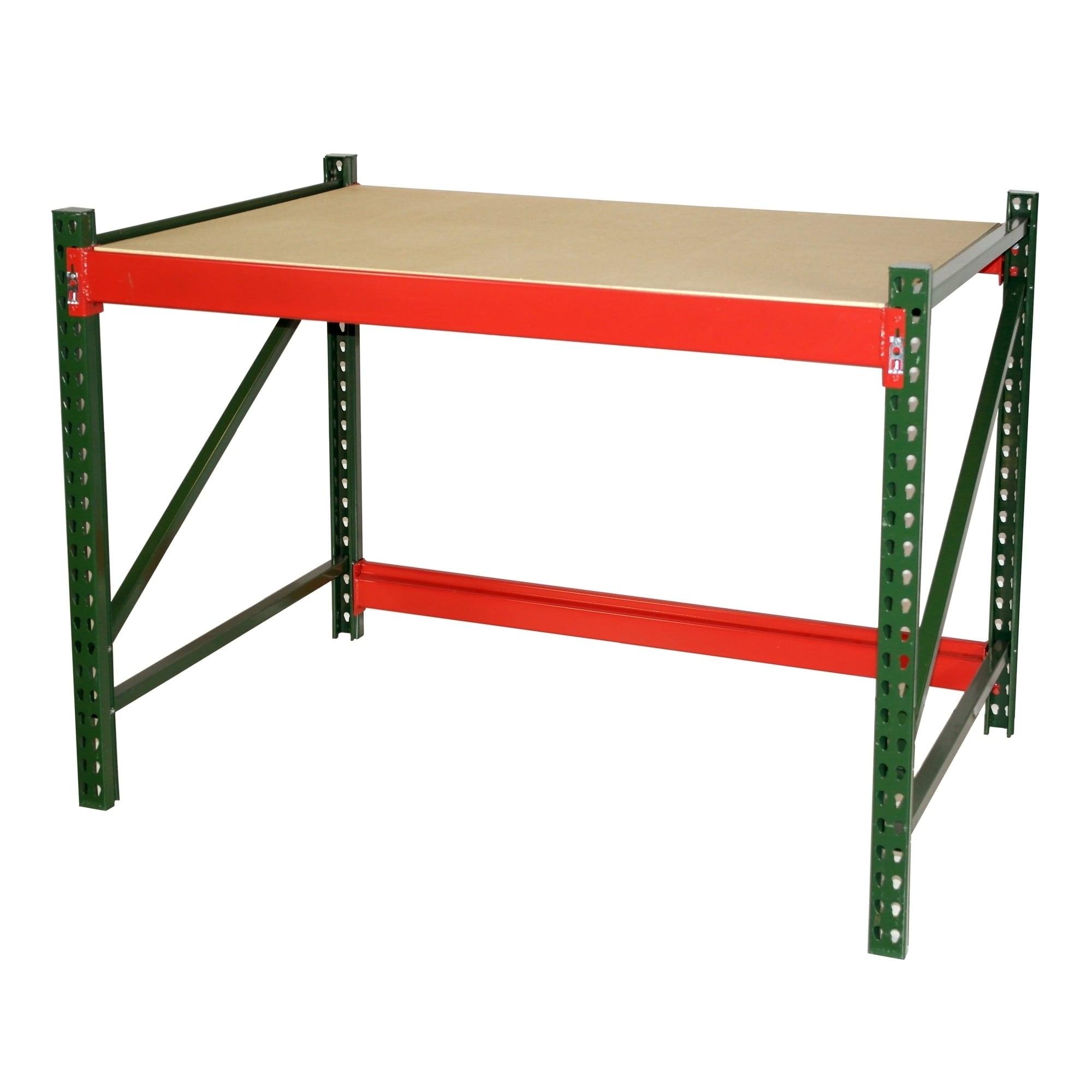 Astounding Shelving Pro Steel Workbench Industrial Grade 4 Ft W X 3 Ft H X 4 Ft D Short Links Chair Design For Home Short Linksinfo