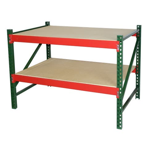 Shelving-Pro Steel Workbench Industrial Grade with Bottom Shelf 4 ft. W x 3 ft. H x 3 ft. D