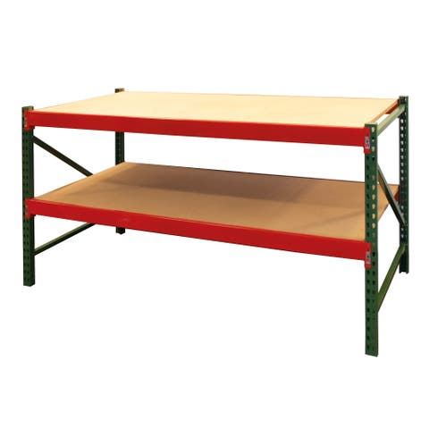 Shelving-Pro Steel Workbench Industrial Grade with Bottom Shelf 6 ft. W x 3 ft. H x 3 ft. D