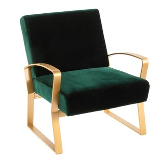 Link to Henley Velvet Contemporary Glam Lounge Chair - N/A Similar Items in Accent Chairs
