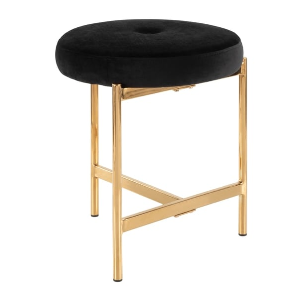 Silver Orchid Bellamy Vanity Stool with velvet seat
