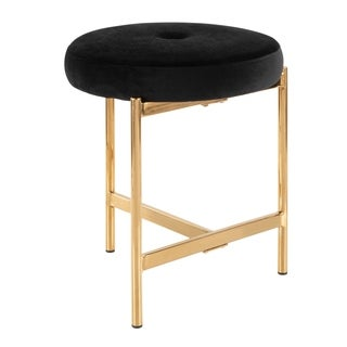 Chloe Vanity Stool with Velvet Seat