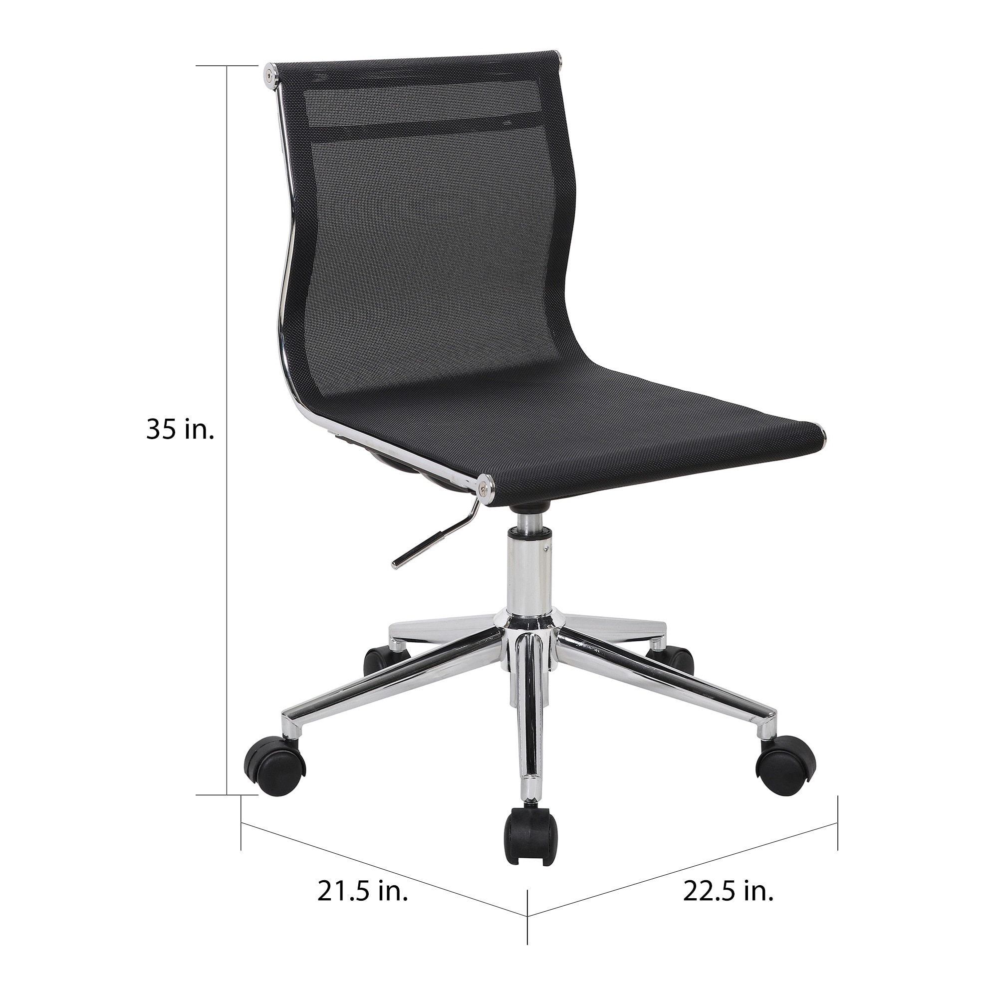Porch Den Bixby Chrome And Mesh Task Chair