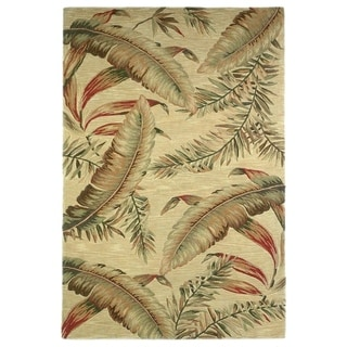 Porch & Den Hand-tufted Wool Tropical Feathers Area Rug