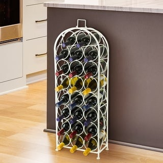 Bordeaux Chateau Wine Rack - Holds 23 Bottles of Wine - White