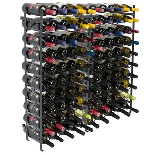 Freestanding Wine Rack- 100 Bottle Capacity, Black