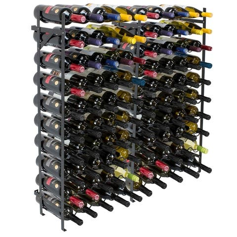 Freestanding Wine Rack- 100 Bottle Capacity, Black