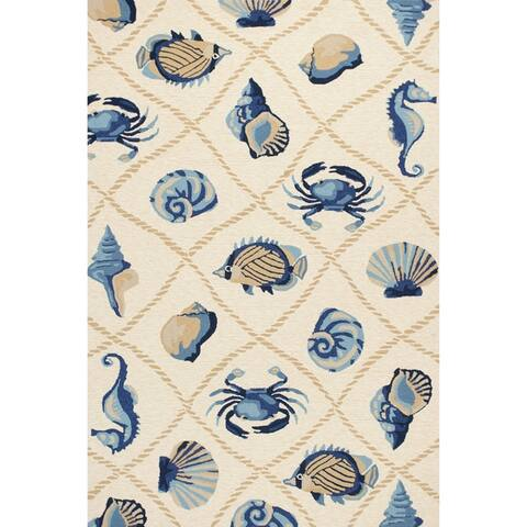 Handmade Nautical Seaside Outdoor Area Rug by Havenside Home