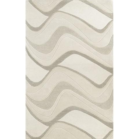 KAS Eternity Waves Hand-Tufted Wool Rug