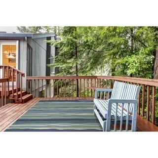 KAS Harbor Ocean Lagoon Blue Indoor/ Outdoor Area Rug - 3'3 x 5'3