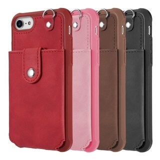 Iphone 8 / 7 / 6 The In-Out Leather Wallet Case With Detachable Case