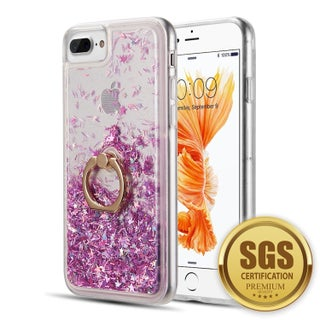 Iphone 8 / 7 / 6 Plus The Waterfall Ring Liquid Sparkling Quicksand Case