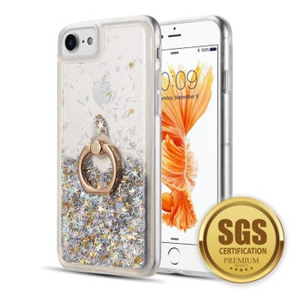 Iphone 8 / 7 / 6 The Waterfall Ring Liquid Sparkling Quicksand Case