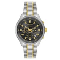 Seiko Chronograph Silver and Gold Men's Watch