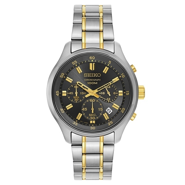 7079f28d8 Shop Seiko Chronograph Silver and Gold Men's Watch - Free Shipping ...