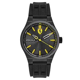 Ferrari Speciale Black Silicone Strap Men's Watch