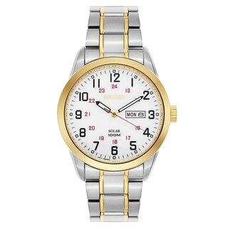 Seiko Solar Silver and Gold Men's Watch