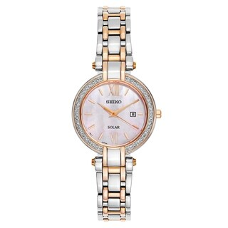 Seiko Tressia Silver and Rose Gold Women's Watch