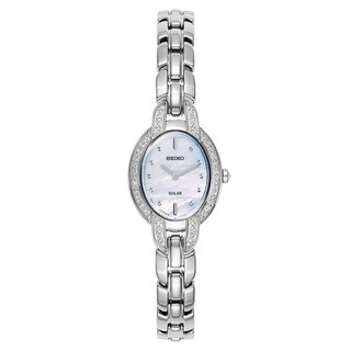 Seiko Tressia Stainless Steel Oval Women's Watch