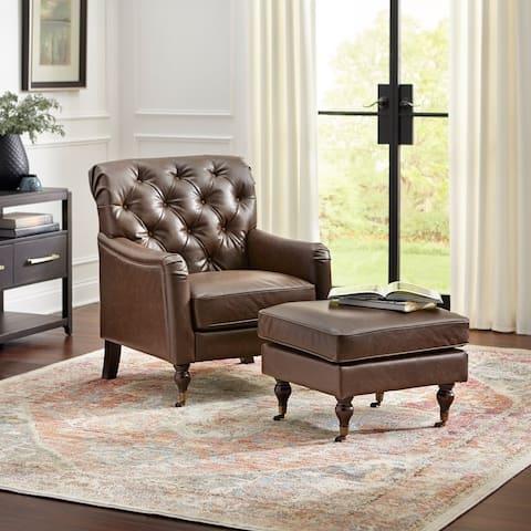 Martin Chair and Ottoman Set