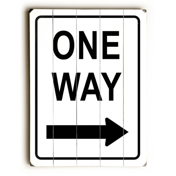 One Way Right - Planked Wood Wall Decor by Cory Steffen