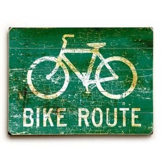 Bike Route -   Planked Wood Wall Decor by Peter Horjus