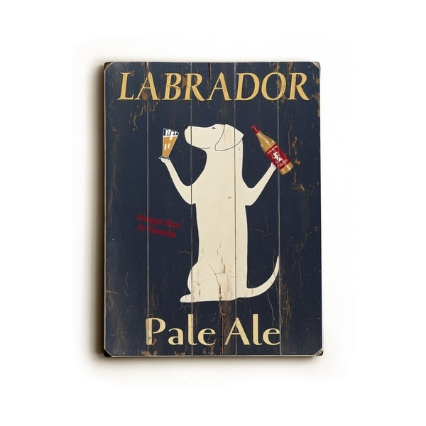 Labrador Pale Ale - Planked Wood Wall Decor by Ken Bailey