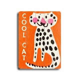 Cool Cat -   Planked Wood Wall Decor by Lisa Weedn