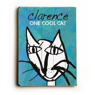 One Cool Cat customize -   Planked Wood Wall Decor by Lisa Weedn