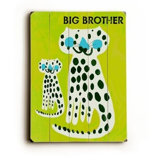 Big Brother -   Planked Wood Wall Decor by Lisa Weedn