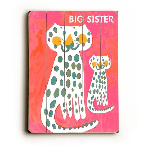 Big Sister - Planked Wood Wall Decor by Lisa Weedn