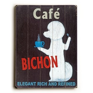 cafe bichon -   Planked Wood Wall Decor by Ken Bailey