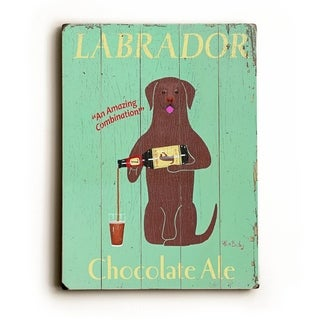 Labrador Ale -   Planked Wood Wall Decor by Ken Bailey